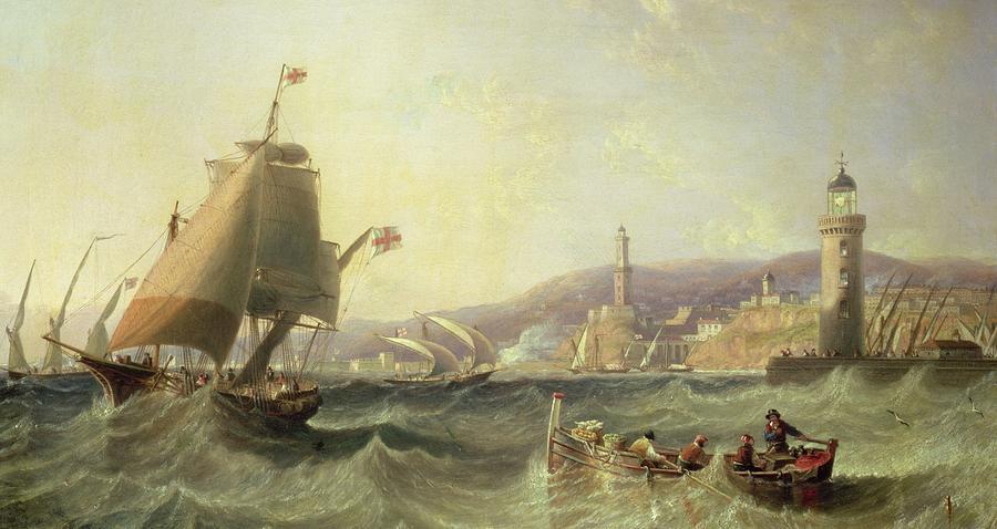 Boat Painting - Genoa by John Wilson Carmichael