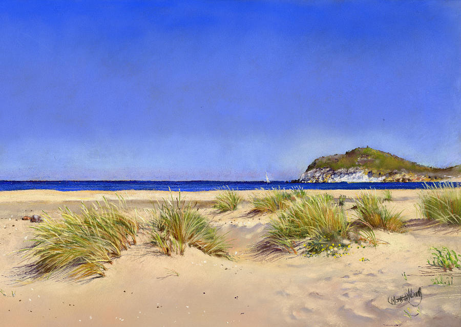 Pastel Painting - Genoveses Beach by Margaret Merry
