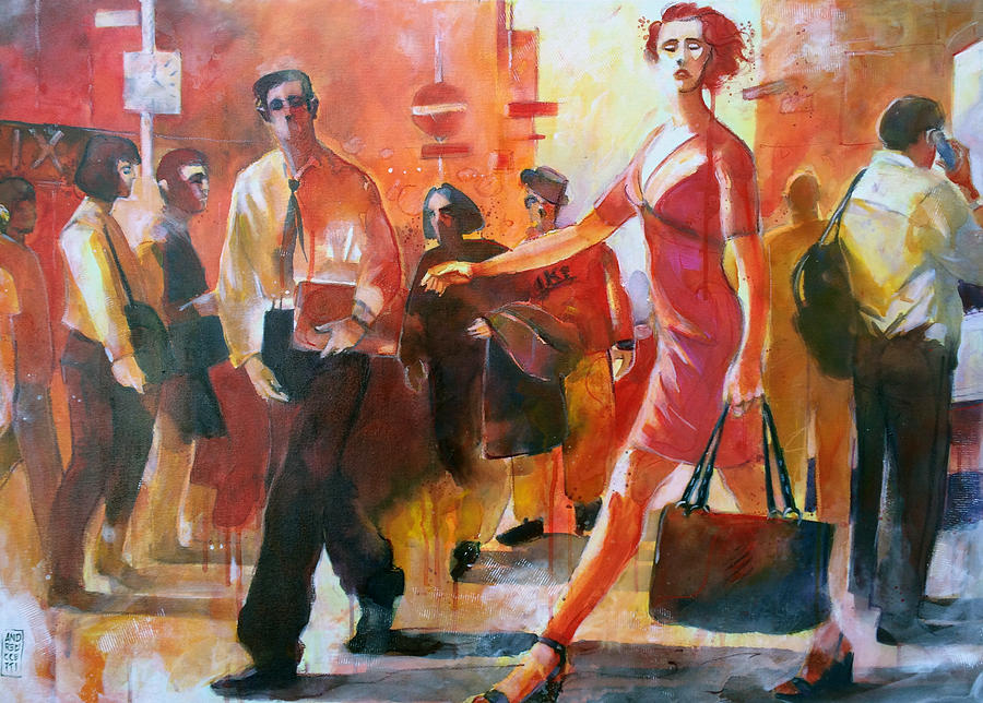 Street Life Painting - Gente Per Strada by Alessandro Andreuccetti