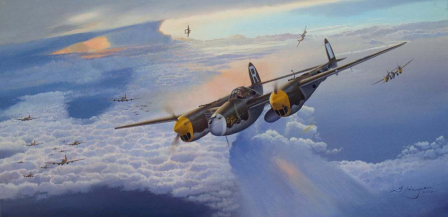 Aviation Art Painting - Gentle Annie by Steven Heyen