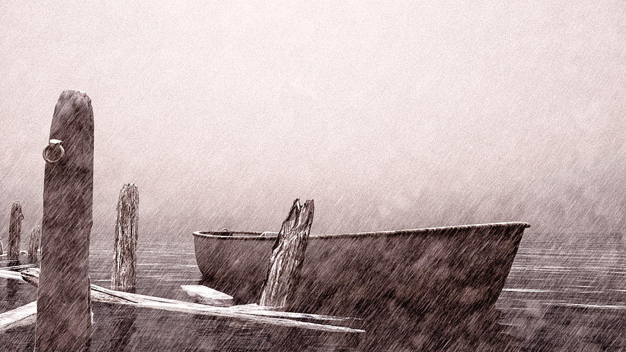 Winter Drawing - Gentle Current by Bob Orsillo