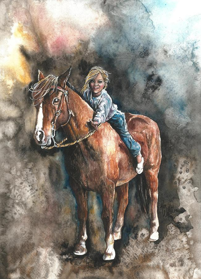 Horse Painting - Gentle Friend by Kim Whitton