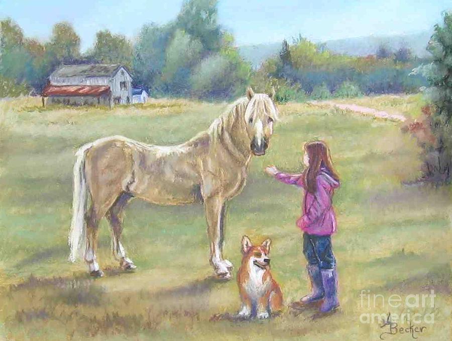 Gentle Friends Pastel by Ann Becker