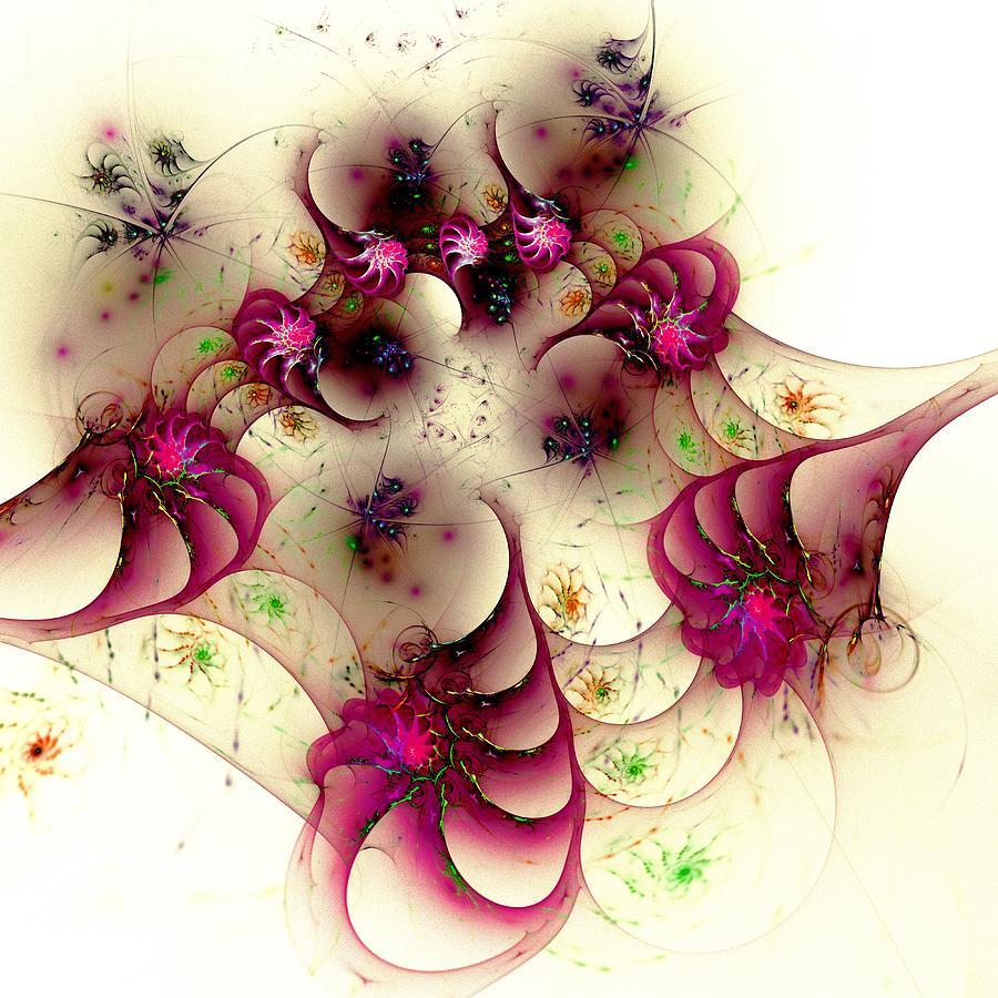 Abstract Digital Art - Gentle Pink by Anastasiya Malakhova