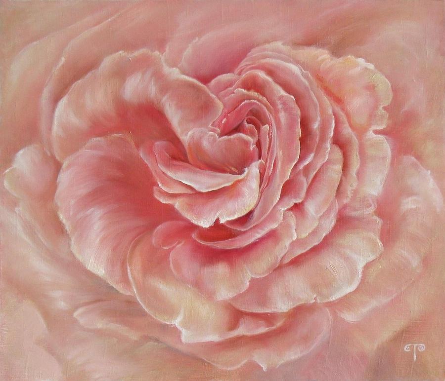 Rose Painting - Gentle by Tanya Byrd
