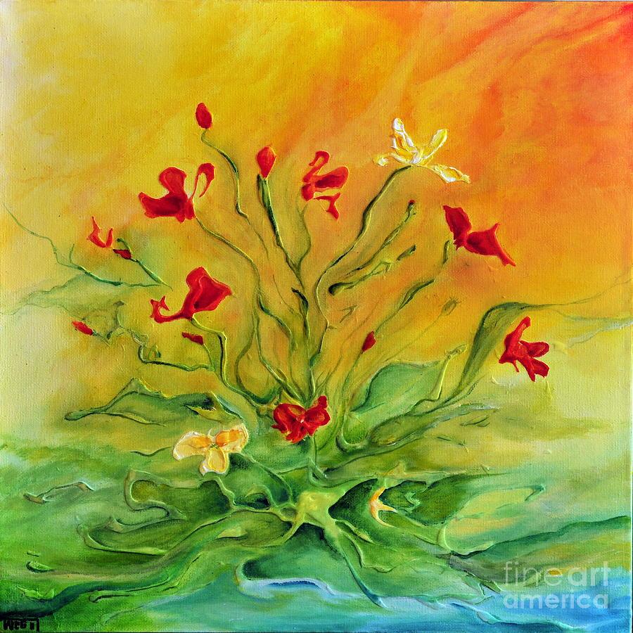 Flowers Painting - Gentle by Teresa Wegrzyn