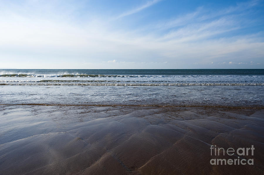 Ocean Photograph - Gentle Waves by Anne Gilbert