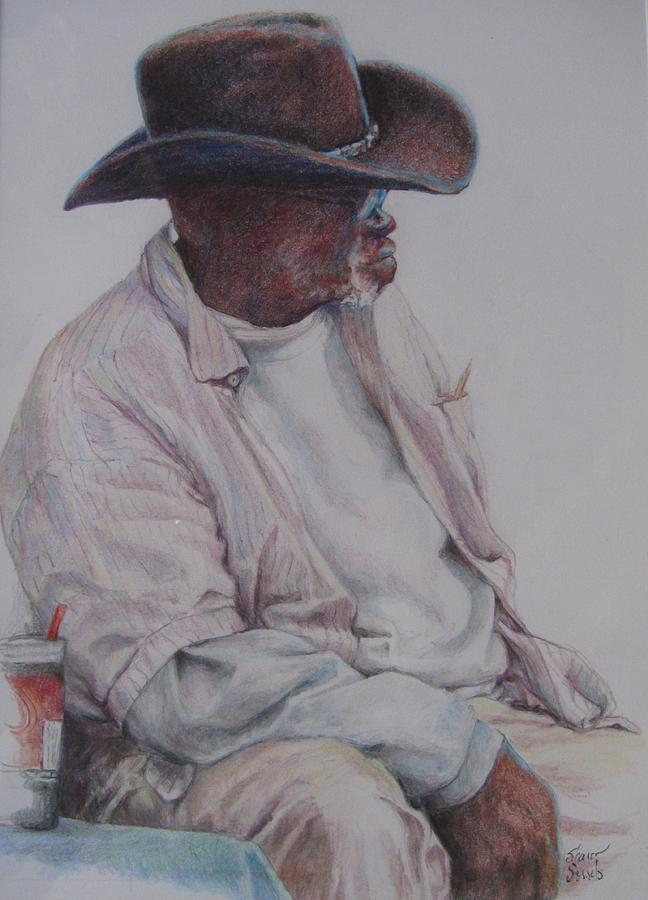 Gentleman Wearing the Dark Hat by Sharon Sorrels