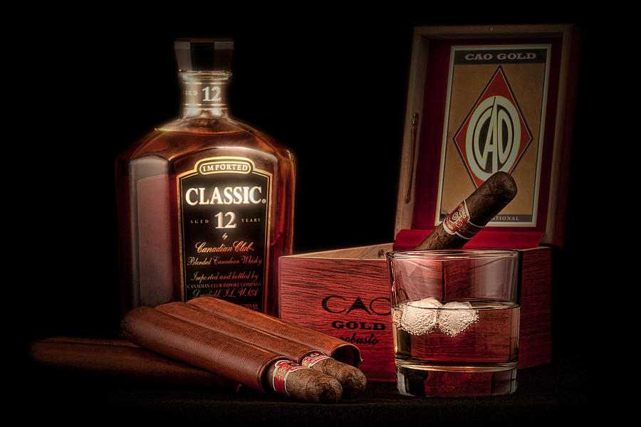 Aged Photograph - Gentlemens Club Still Life by Tom Mc Nemar