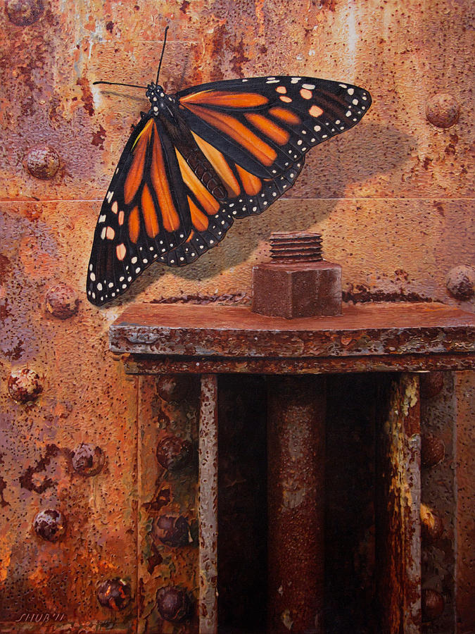 Butterfly Painting - Gently Touching My Emotions by Stephen Shub