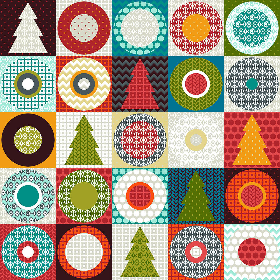 Tree Drawing - Geo Christmas by MGL Meiklejohn Graphics Licensing