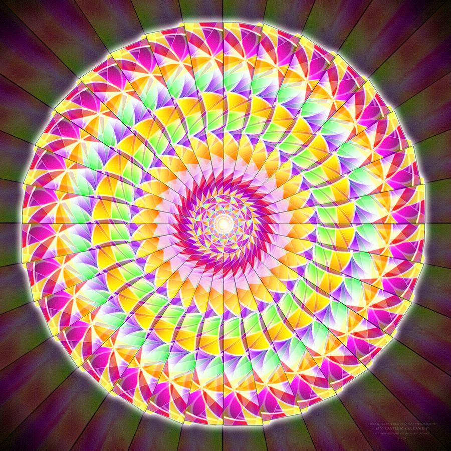 Sacredlife Mandalas Drawing - Geo Master Eleven Kaleidoscope by Derek Gedney