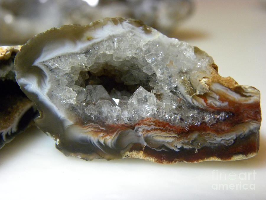 Geode Photograph - Geode 2 by Laura Yamada