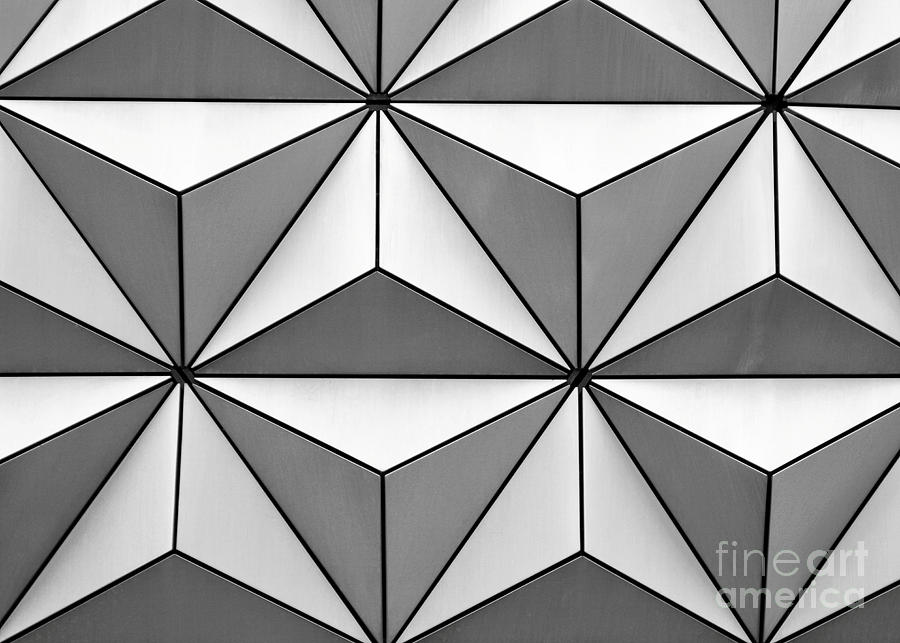 Abstract Photograph - Geodesic Pyramids by Sabrina L Ryan