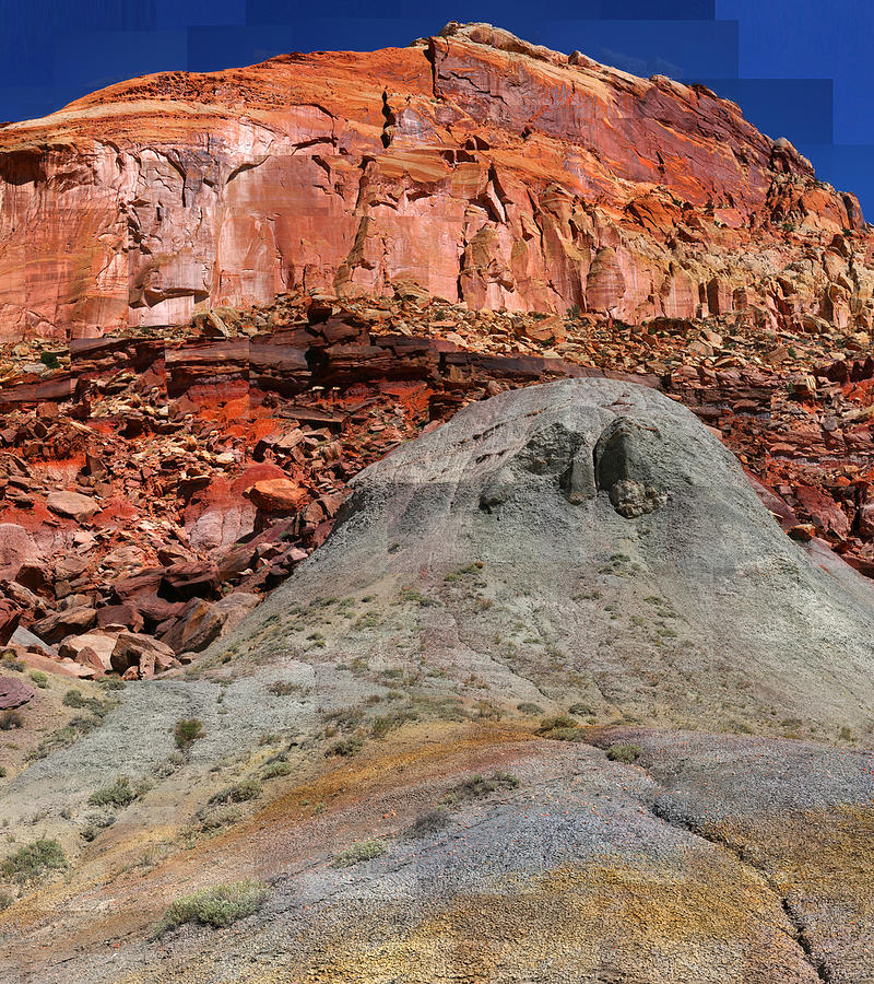 Capitol Reef Photograph - Geology Triptych - One by Stephen Farley