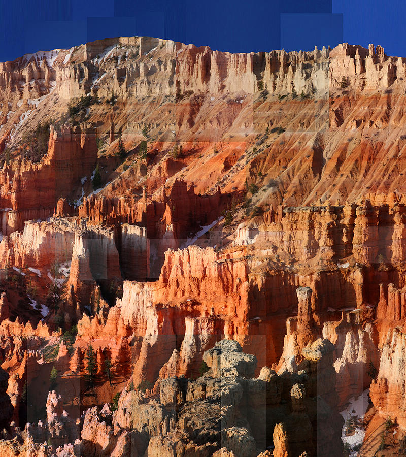 Bryce Canyon Photograph - Geology Triptych - Three by Stephen Farley
