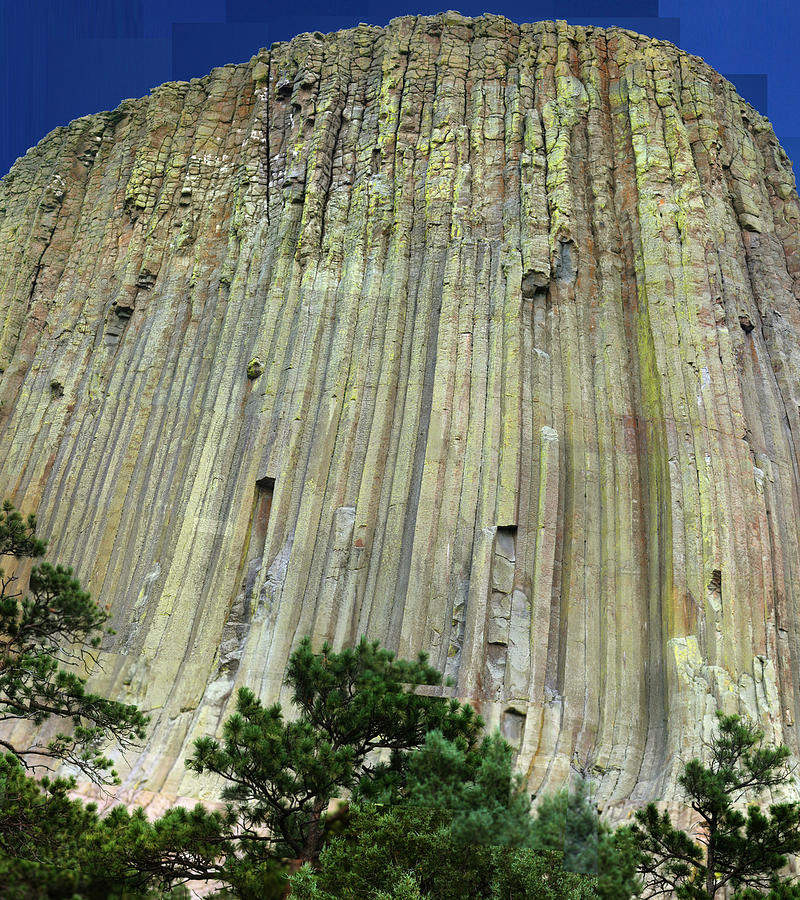 Devil's Tower Photograph - Geology Triptych - Two by Stephen Farley