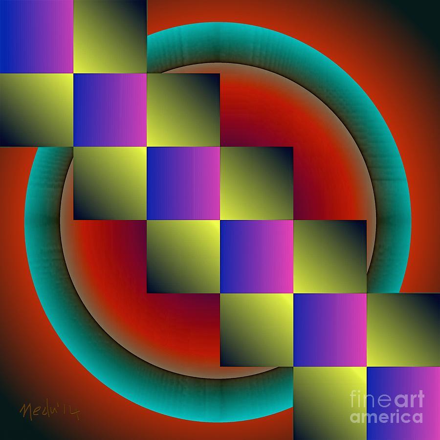 Canvas Prints Painting - Geometrca 203 by Nedunseralathan R