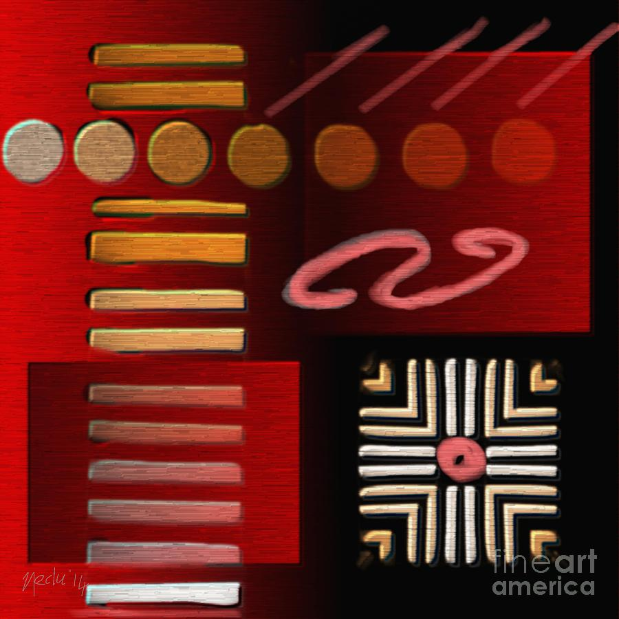 Art Prints Painting - Geometrca 224 by Nedunseralathan R