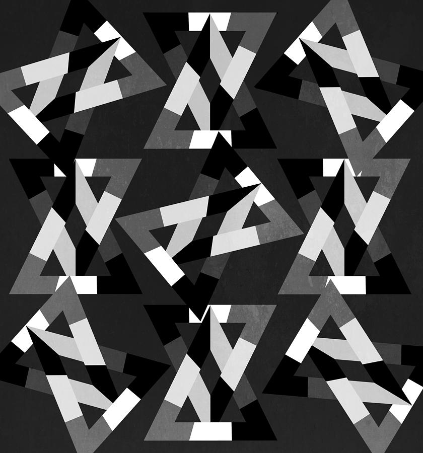 Contemporary Digital Art - Geometric 12 by Mark Ashkenazi