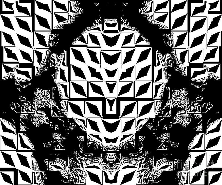 Geometric artwork digital art geometric black white abstract art no 262 by drinka mercep