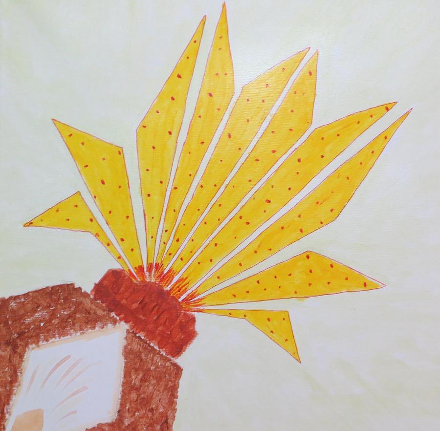Blooming Lotus Painting - Geometric Blooming Lotus by Sonali Gangane
