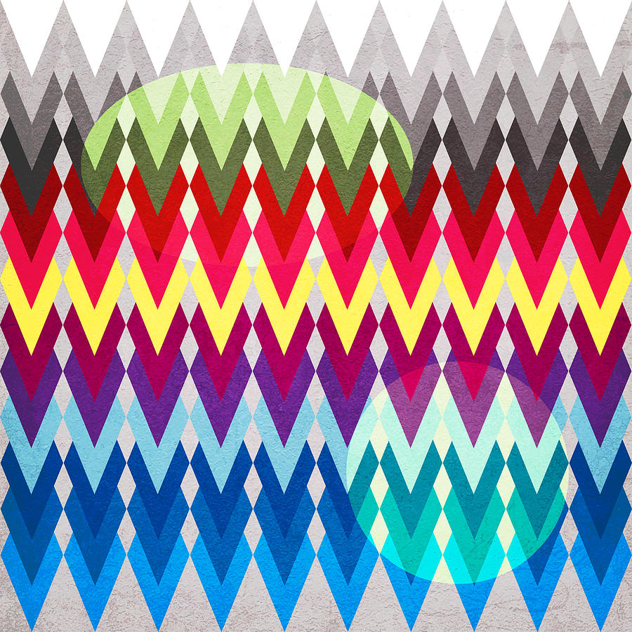 Contemporary Digital Art - Geometric Colors  by Mark Ashkenazi