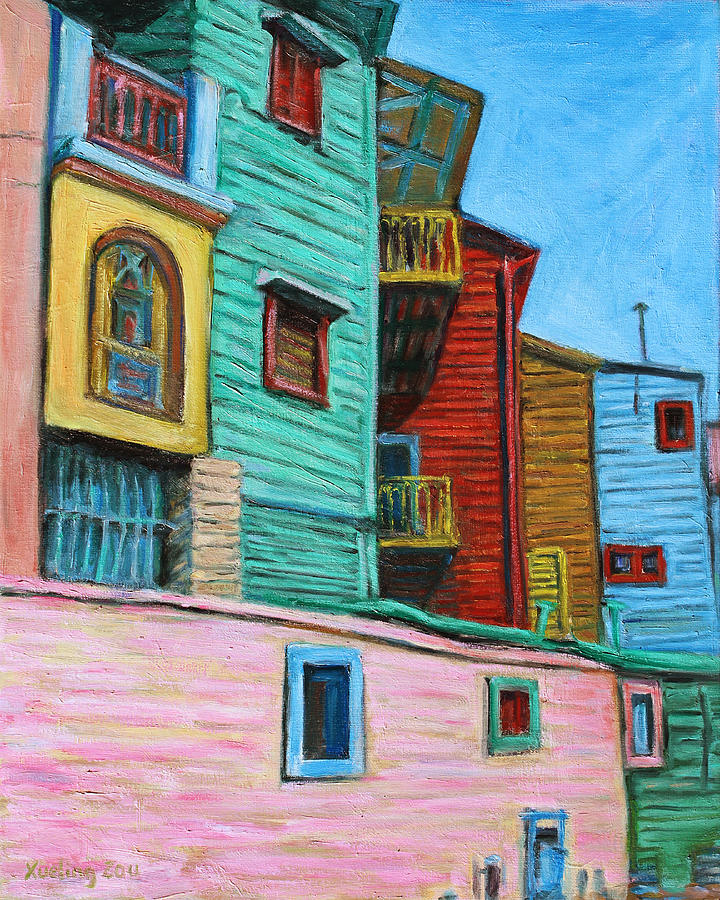 Cityscape Painting - Geometric Colours II by Xueling Zou