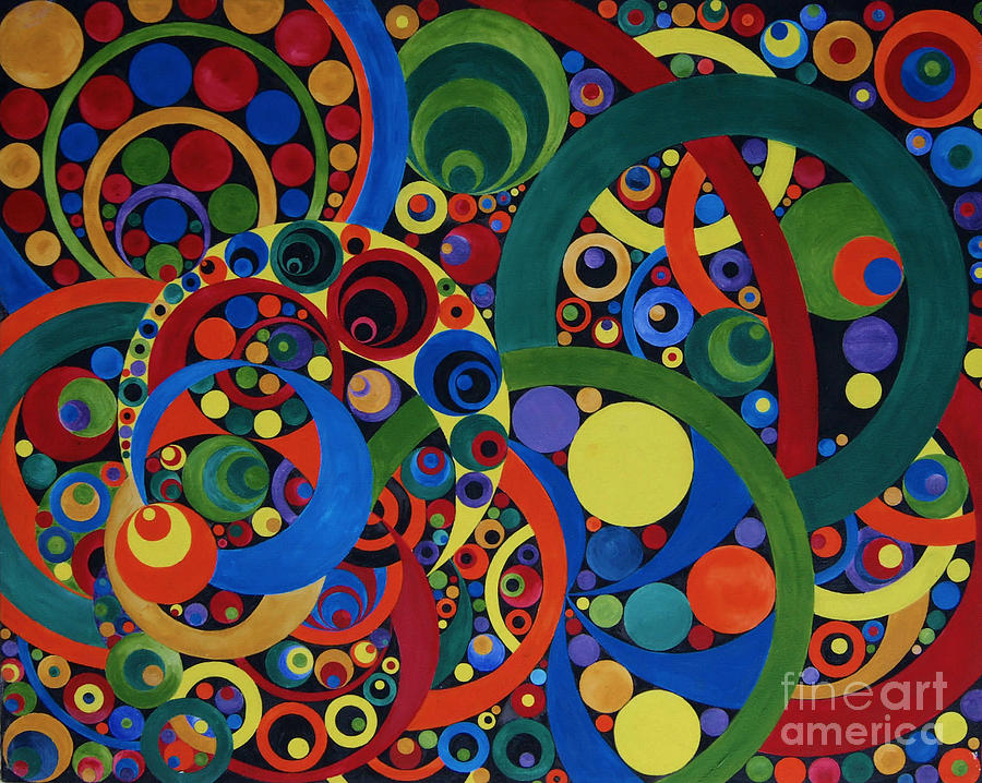 Geometric Composition Number Two Painting by Amy Nelson