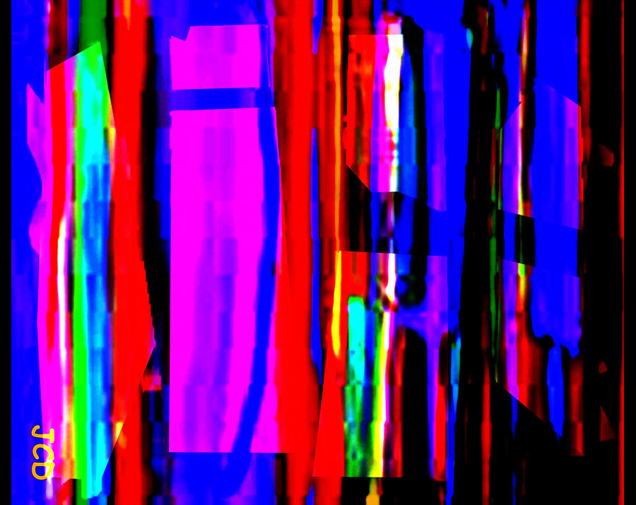 Abstract Digital Art - Geometric Harvest by Jean-Claude Delhaise