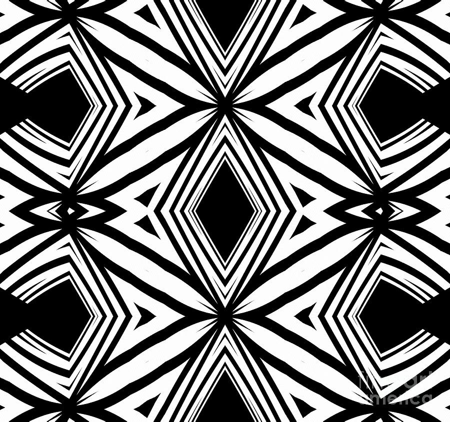 Black And White Pattern Artwork