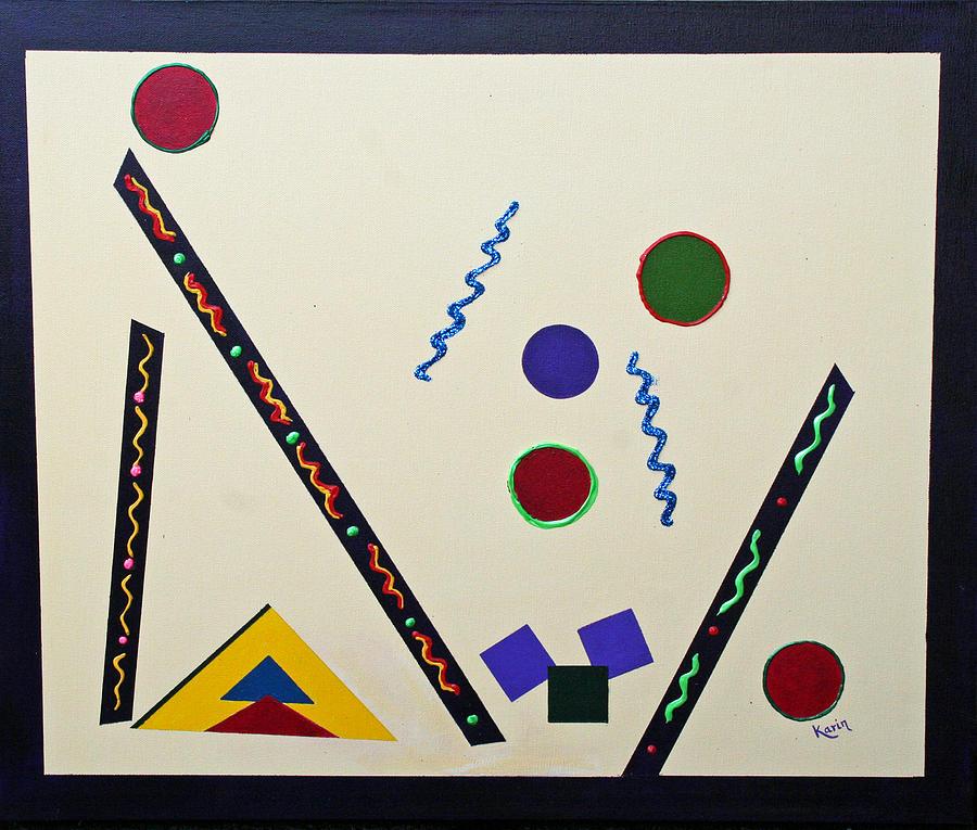 Abstract Painting - Geometrical Play by Karin Eisermann