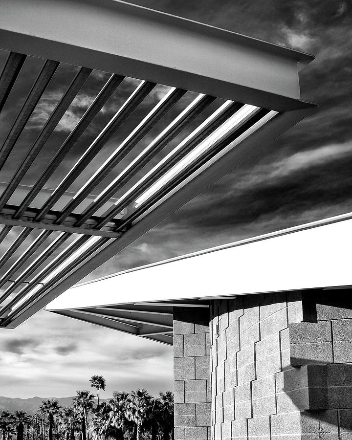 Featured Photograph - GEOMETRY LESSON Palm Springs Tram Station by William Dey