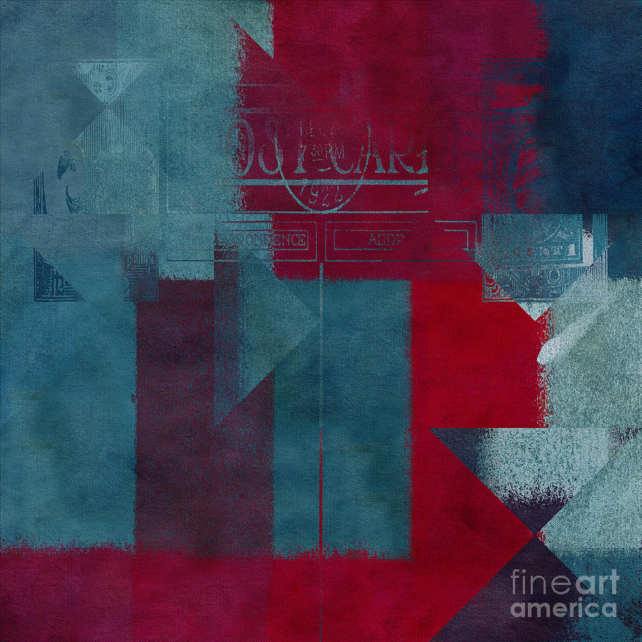 Abstract Digital Art - Geomix 03 - S330d05t2b2 by Variance Collections