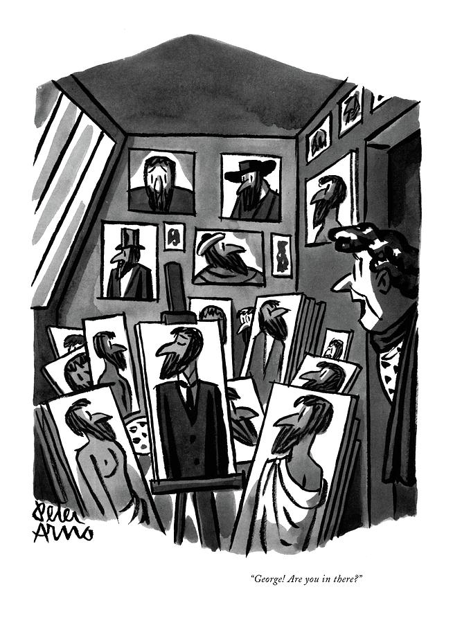 George! Are You In There? Drawing by Peter Arno