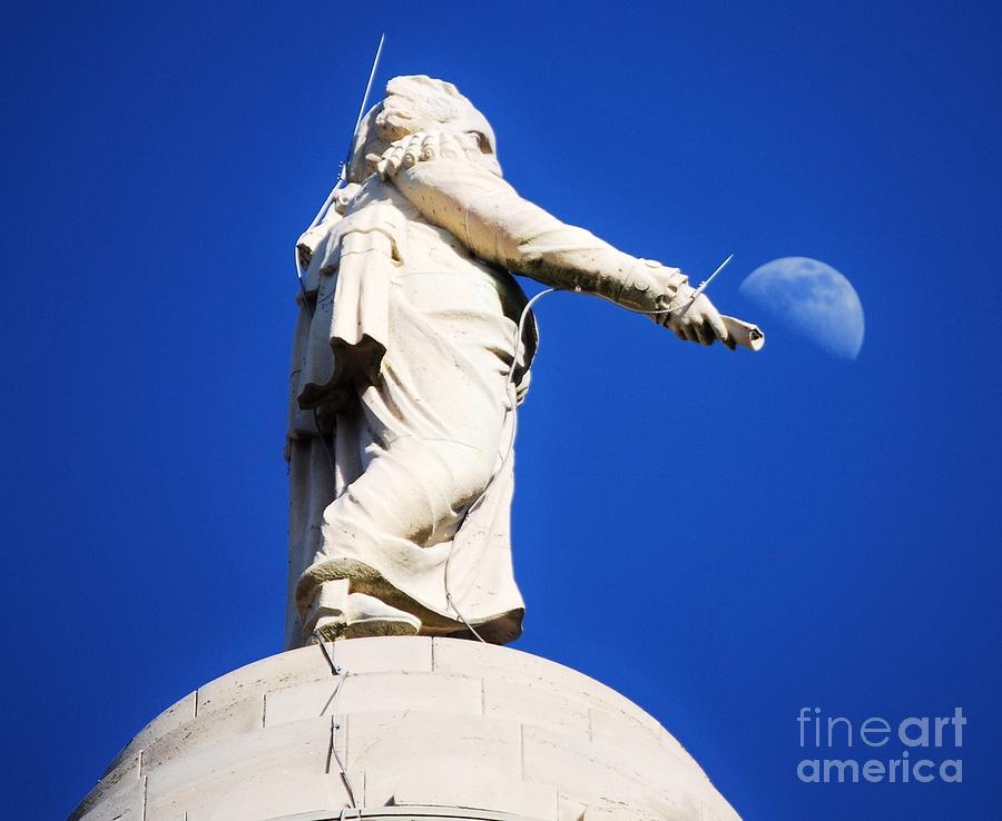 George Washington Photograph - George W Bounces The Moon by Marcus Dagan