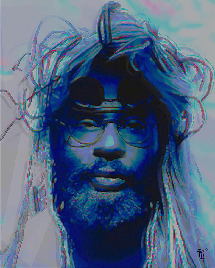 Hair Painting - George Clinton by Fli Art