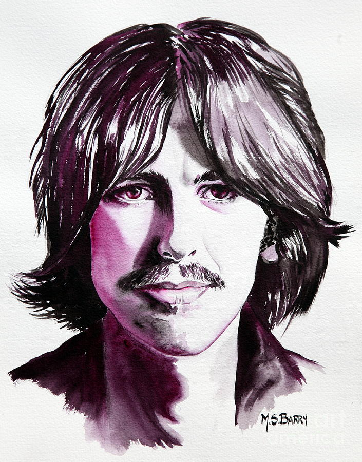 The Beatles Painting - George Harrison by Maria Barry