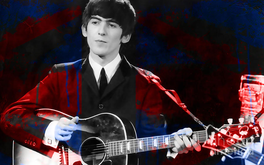 Music Photographs Mixed Media - George Harrison  by Marvin Blaine