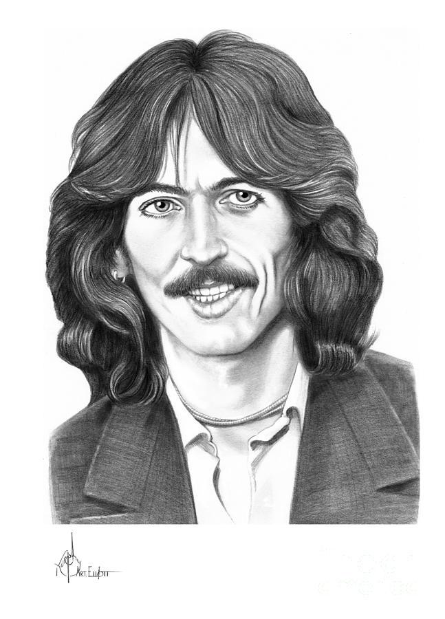 Pencil Drawing - George Harrison by Murphy Elliott