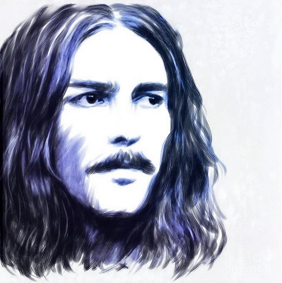 George Harrison Painting - George Harrison Portrait by Wu Wei