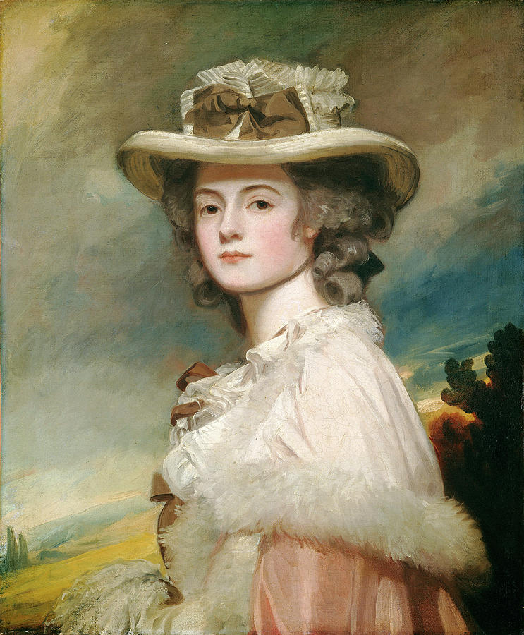 George Painting - George Romney, Mrs by Quint Lox