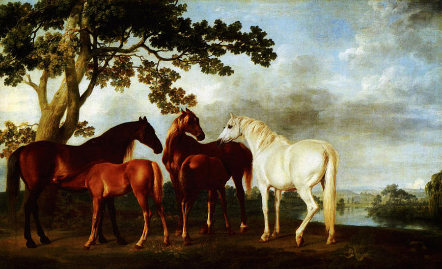 Horses Painting - Horses by George Stubbs