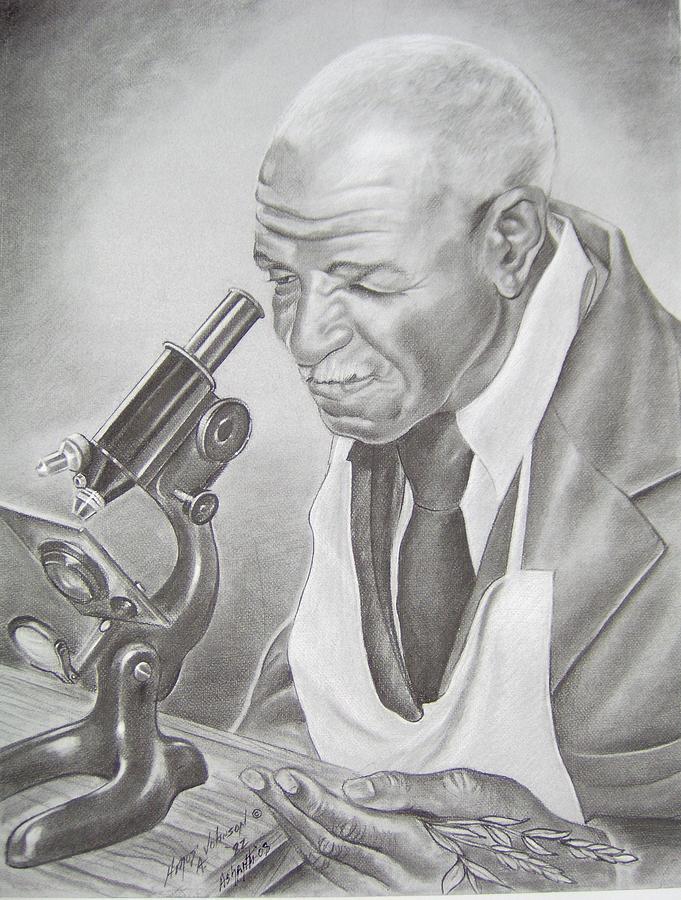 Portrait Drawing - George Washington Carver by Ashanti A Johnson