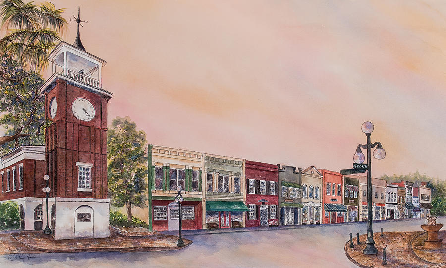 Georgetown Front Street by Paula Robertson