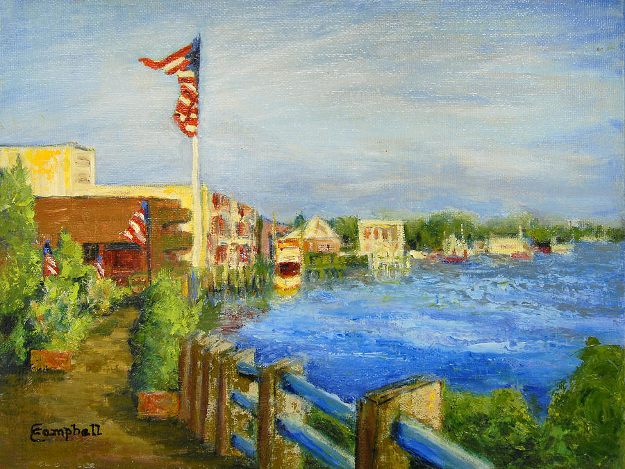 Georgetown Sc Painting - Georgetown Harbor by Cecelia Campbell