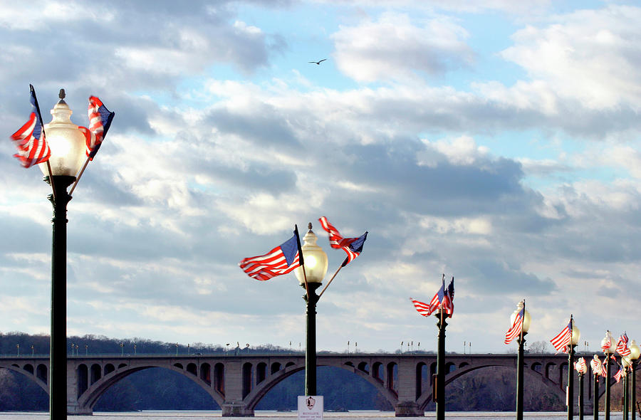 Georgetown, Key Bridge Over The Potomac Photograph by Hisham Ibrahim