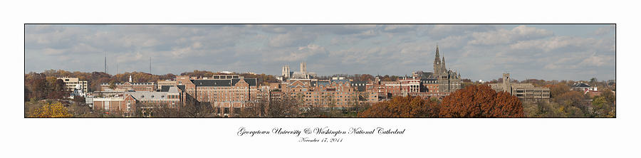 College Photograph - Georgetown University Fall Panorama by Lauren Brice
