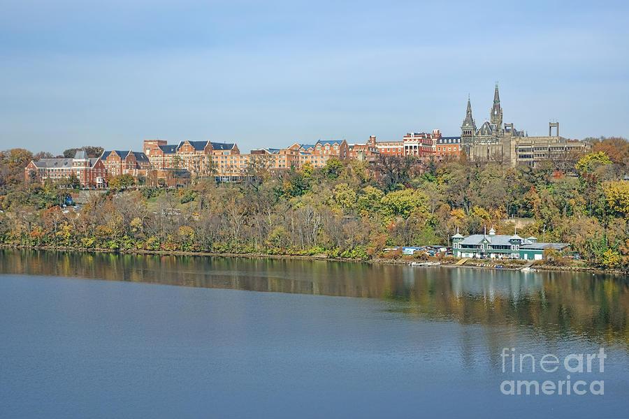 Washington Photograph - Georgetown University Neighborhood by Olivier Le Queinec