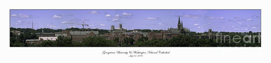 College Photograph - Georgetown University Panorama Summer by Lauren Brice
